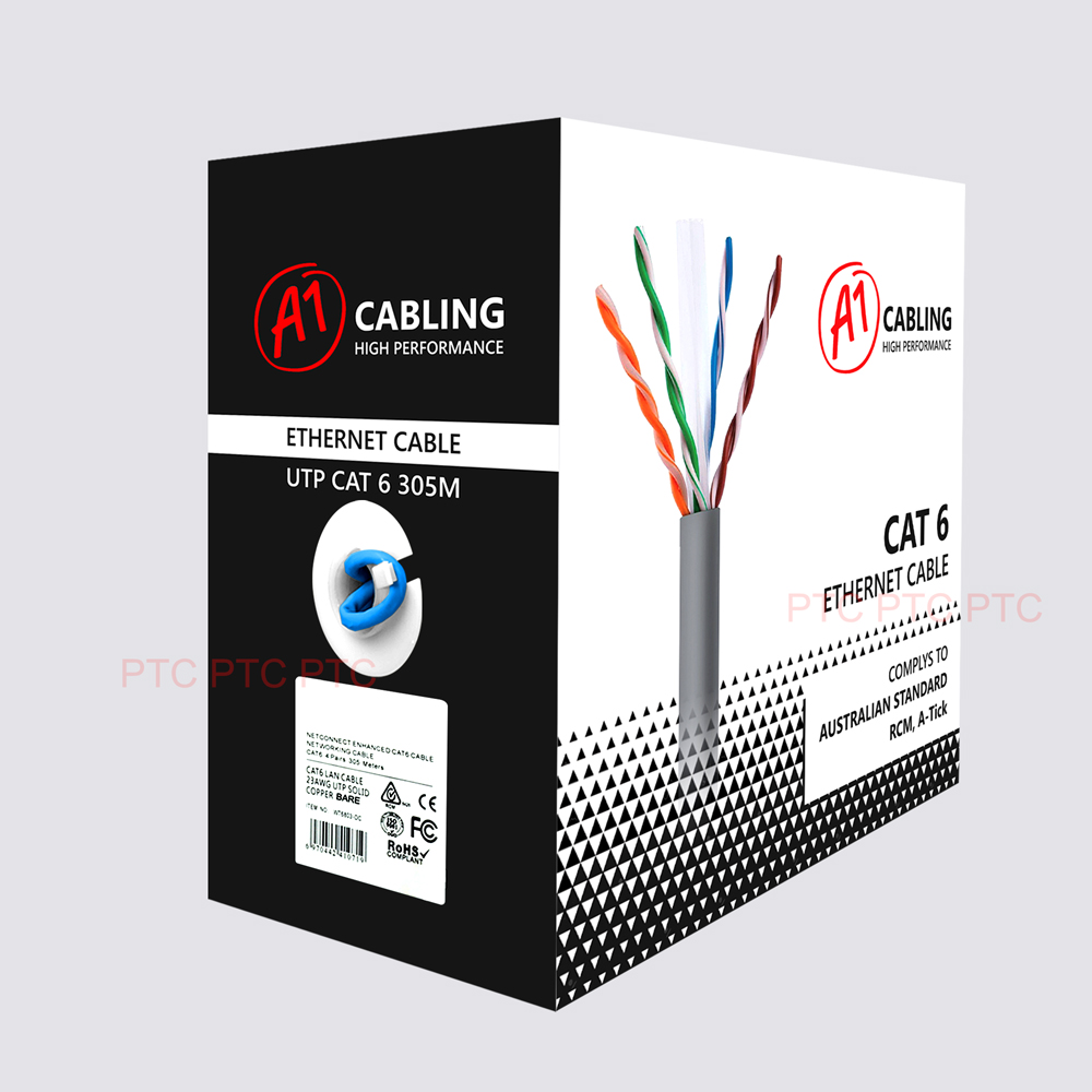 Cat6 Premium Solid Bare Copper Ethernet Cable
